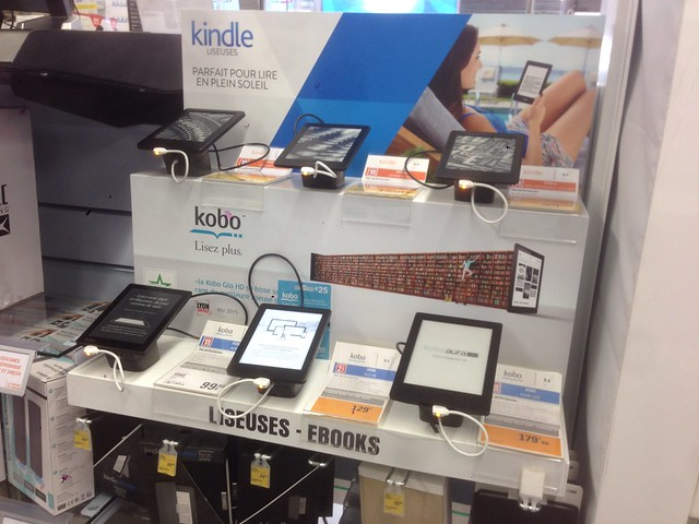 Kindle et Kobo chez Darty