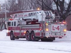 Cambridge FD Pierce 105' Ladder