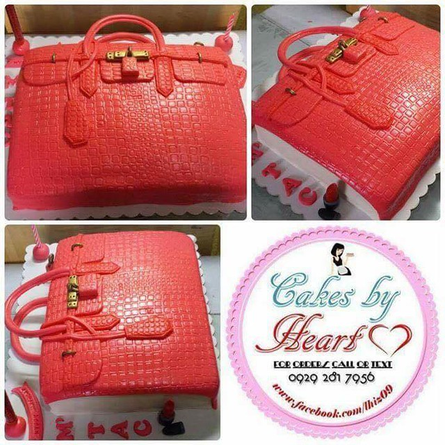 Red Bag Cake by Lhiz Almario Robles of CakesByHeart