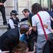 Human rights campaigners blockade Farnborough International arms fair reception at Science Museum