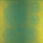 Vance Kirkland - Vibrations of Turquoise on Yellow; Oil on linen; 1967; 66 x 66; Courtesy of Kirkland Museum of Fine and Decorative Art, Denver
