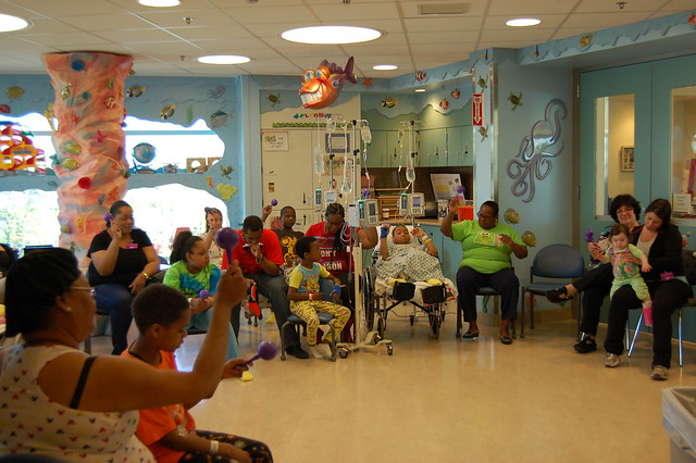 Sugar Free Allstars Visit the Children's Hospital