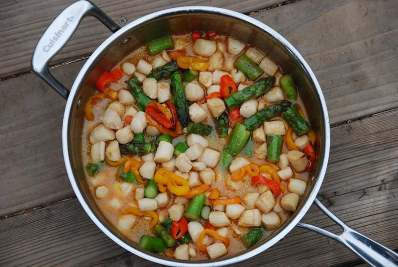 scallop veggie skillet