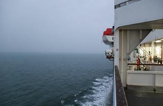 Sur le ferry en direction de l'Angleterre !
