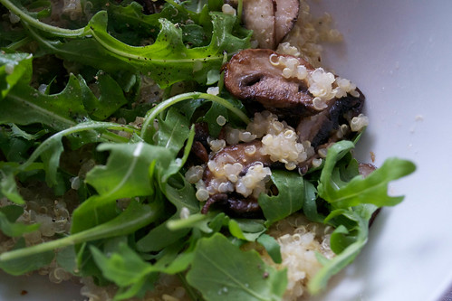 quinoa mushrooms rocket gwyneth