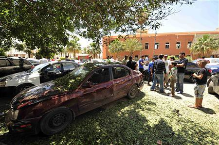 Police station bombings in Benghazi on May 10, 2013. The government in London later announced it was scaling down its diplomatic staff inside the country. by Pan-African News Wire File Photos