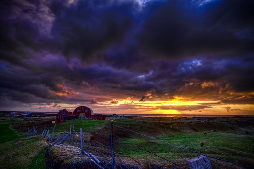 sunset sky house abandoned canon buildings landscape photography iceland country calm 1022mm hdr d500 icelandic