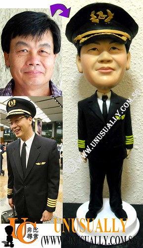 Personalized 3D Unusually Creation SIA Pilot Figurine - @www.unusually.com.sg