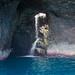 Waterfall poking through a Na Pali cave