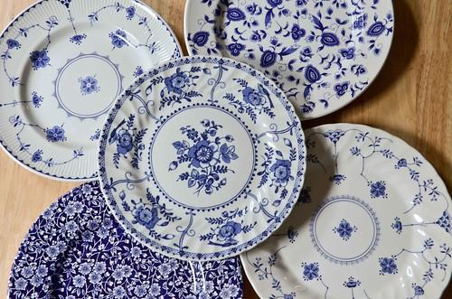 Blue & White Royal Copenhagen Knock Off Plates