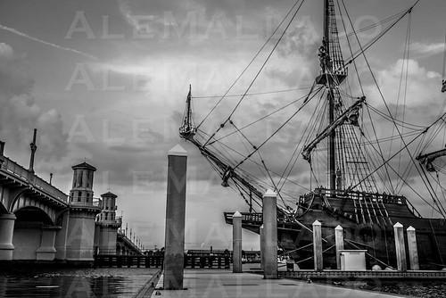 The Viva Florida 500 Galleon in Saint Augustine by Ale Mallado