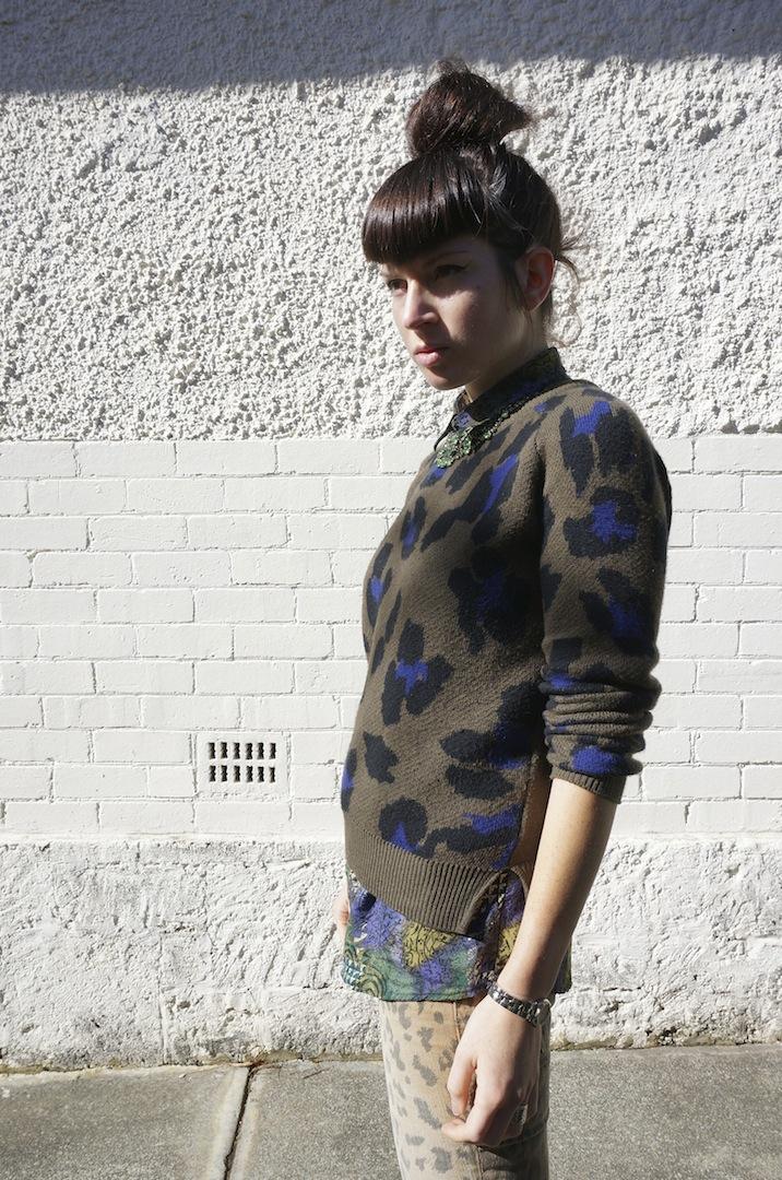Leopard camo print clash