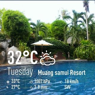 Koh Samui Wether 2July 2013 サムイ島 お天気