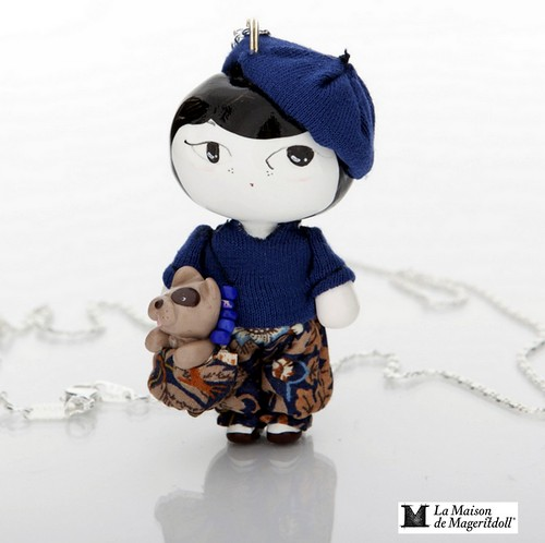 Mageritdoll Collection: Summer Inspiration (ARTISAN Art brooch & necklace to Wear ) by La Maison de Mageritdoll