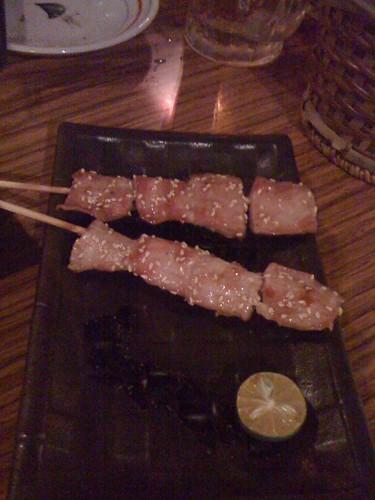鹽烤松阪豬 ($100)@台北大村武串燒居酒屋