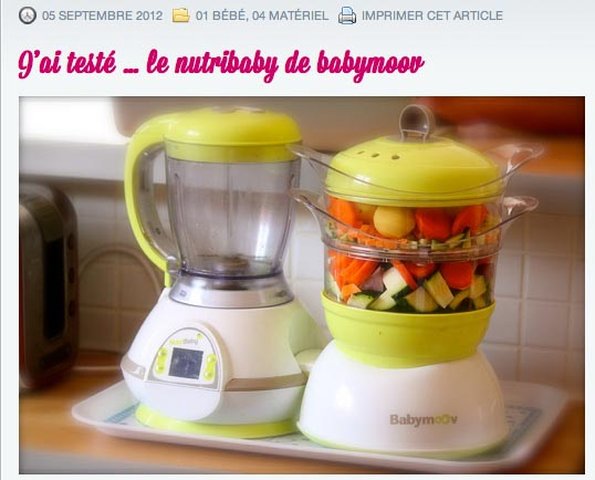 Test du Nutribaby par le blog