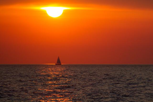 Sunset near Kythnos
