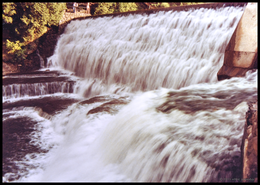Waterfall - Belfountain Conservation Area, Aug 4, 1986