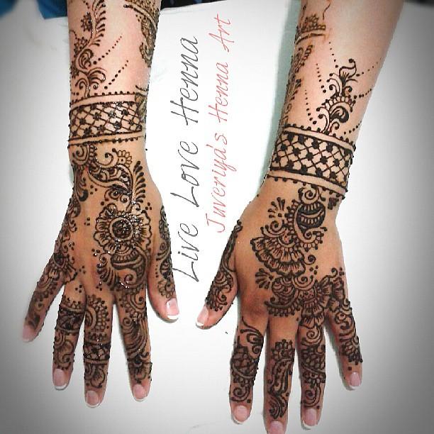 Mehndi For Back Side : Simple bridal henna back side bridalhenna bride