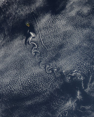 Swirl of Clouds over the Pacific