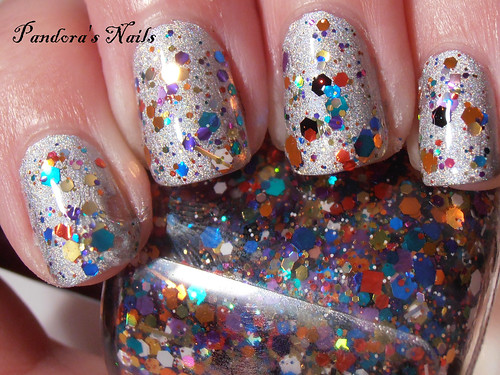 kbshimmer clown puke over gosh holographic hero (1)