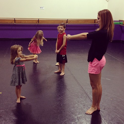New friend teaching Berkley some Ballet.