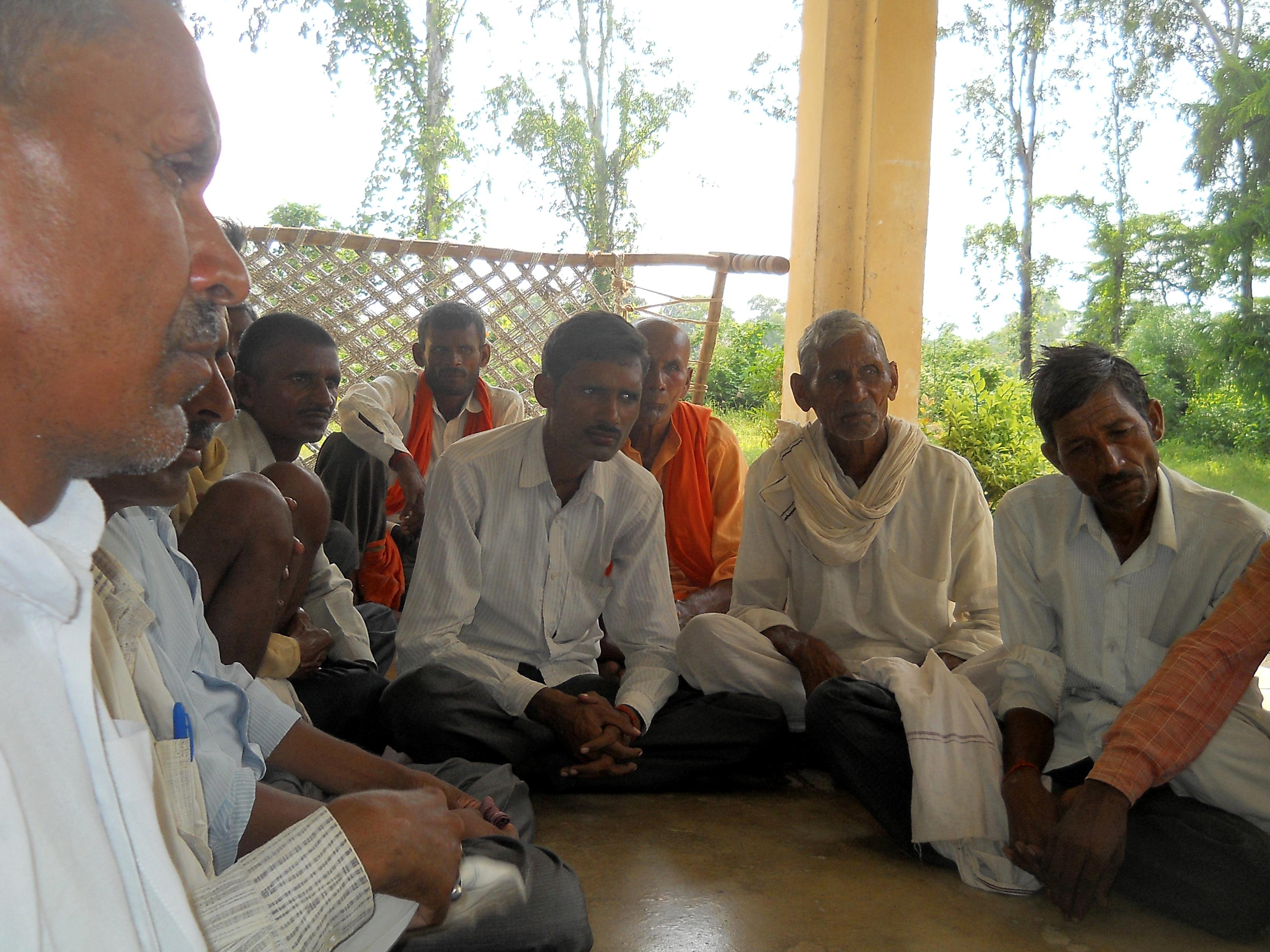 विस्थापन विरोधी जन संघर्ष मोर्चा के मीटिंग में किसान