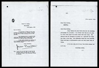 Jean Batten's Letter of Thanks