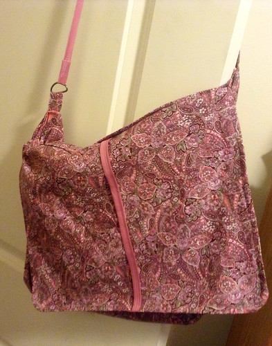Book bag in paisley pink and floral. by AngelavengerL