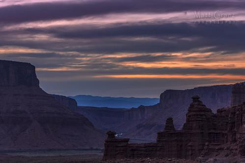 sunset night clouds river landscape utah twilight desert dusk canyon southern bluehour castlevalley mattgranz mattgranzzenfoliocom mattgranzgmailcom
