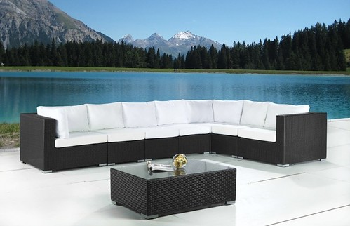 modern sectional patio set by Velago