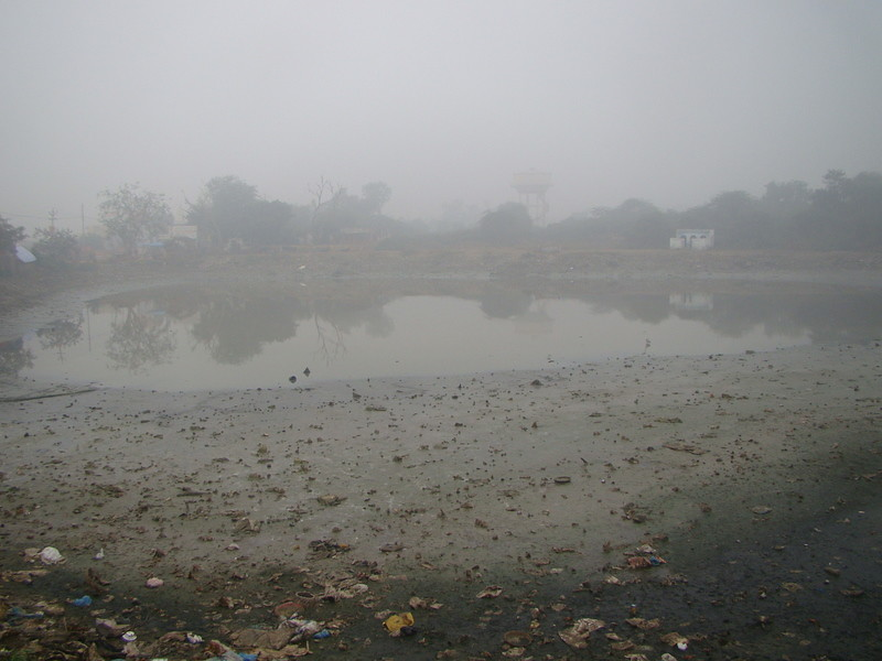 Neglected state of Sankarshan Kund in Braj