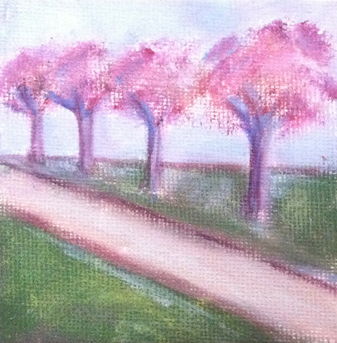 Row of Trees (Mini-Painting as of October 16, 2013) by randubnick