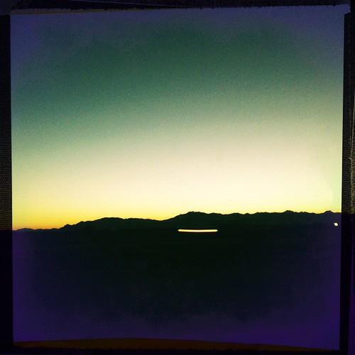 Three Hipstamatic desert landscapes