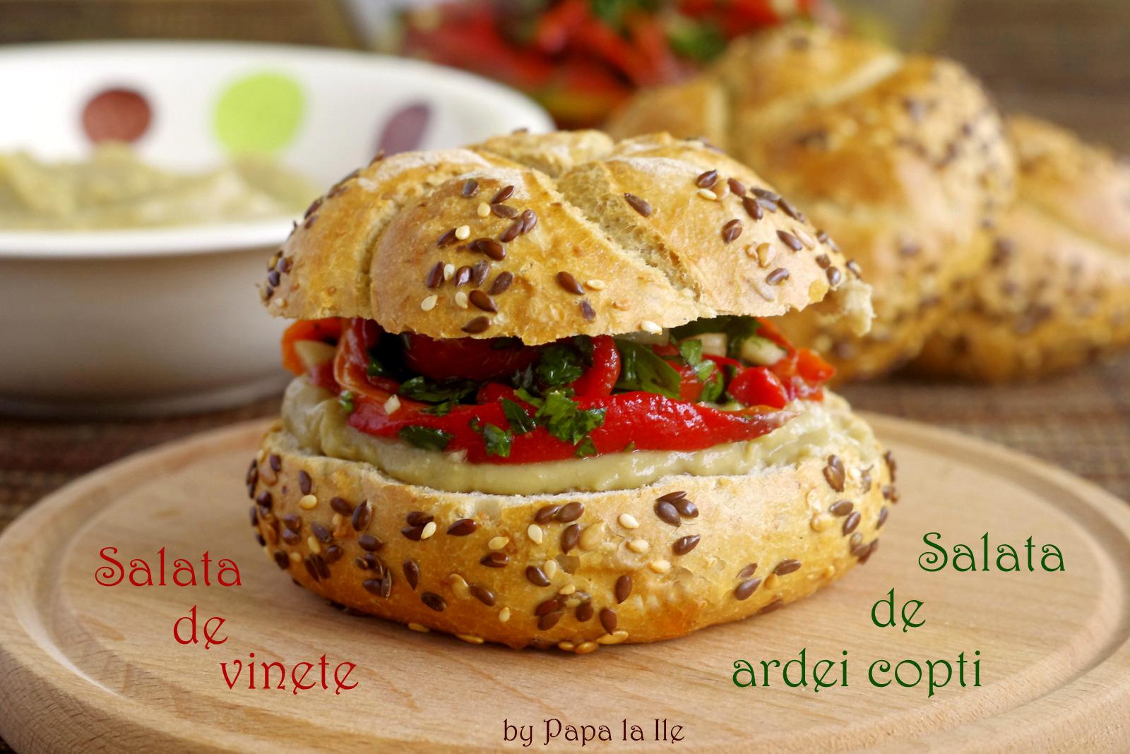 Salata de vinete, salata de ardei copti (7)
