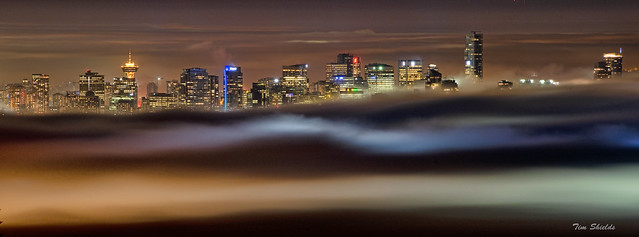 Vancouver under the fog