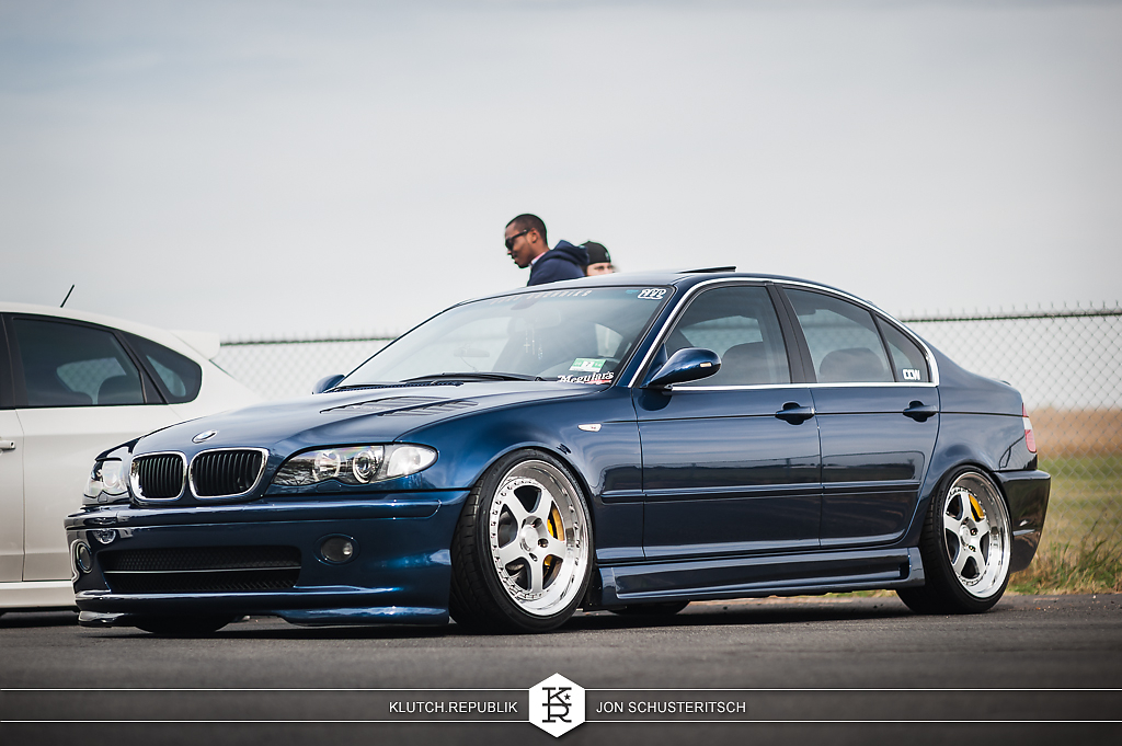 blue e46 m3 bmw 318 323 325 328 330 sedan coupe canibeat first class fitment 2013 4th annual new jersey princton airport slammed dropped dumped bagged static coilovers hella flush stanced stance fitment low lowered lowest camber wheels tucked 16s 17s 18s 19s 20s 3piece 1 piece custom airbags scene scenester