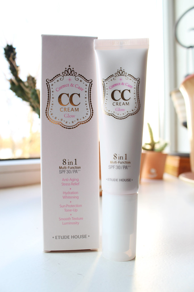 Etude House CC cream review, Glow cream CC