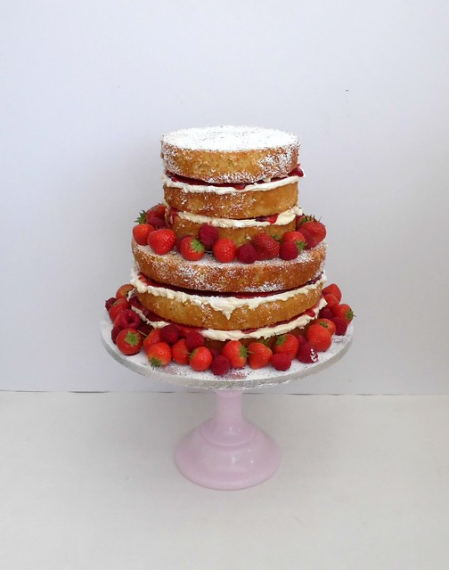tiered victoria sponge wedding cake two tier sponge cake flickr photo 20969