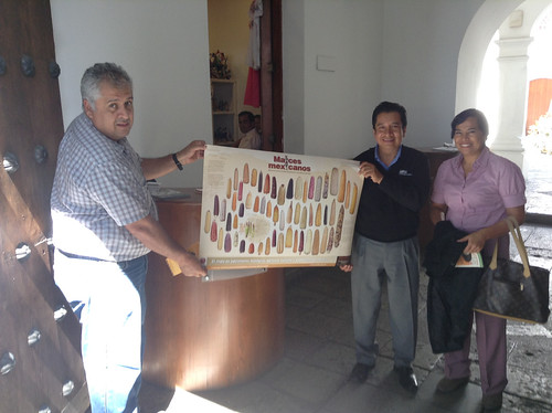 So happy visiting Hugo Antonio Santiago at the Oaxaca State Tourism Office 11.2013