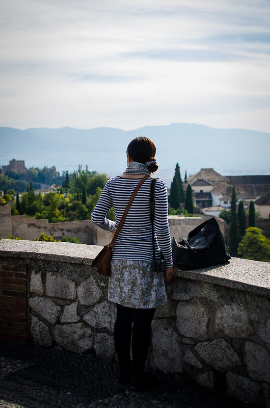 Checking out the Alhambra from the San Cristobal Mirador in Granada, Spain.