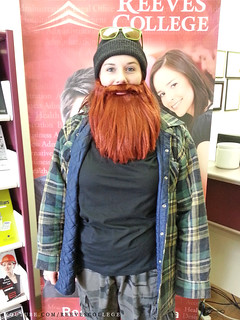 Reeves College Lloydminster Campus Students, Staff and Faculty in Halloween Costumes - Kassidy With Beard
