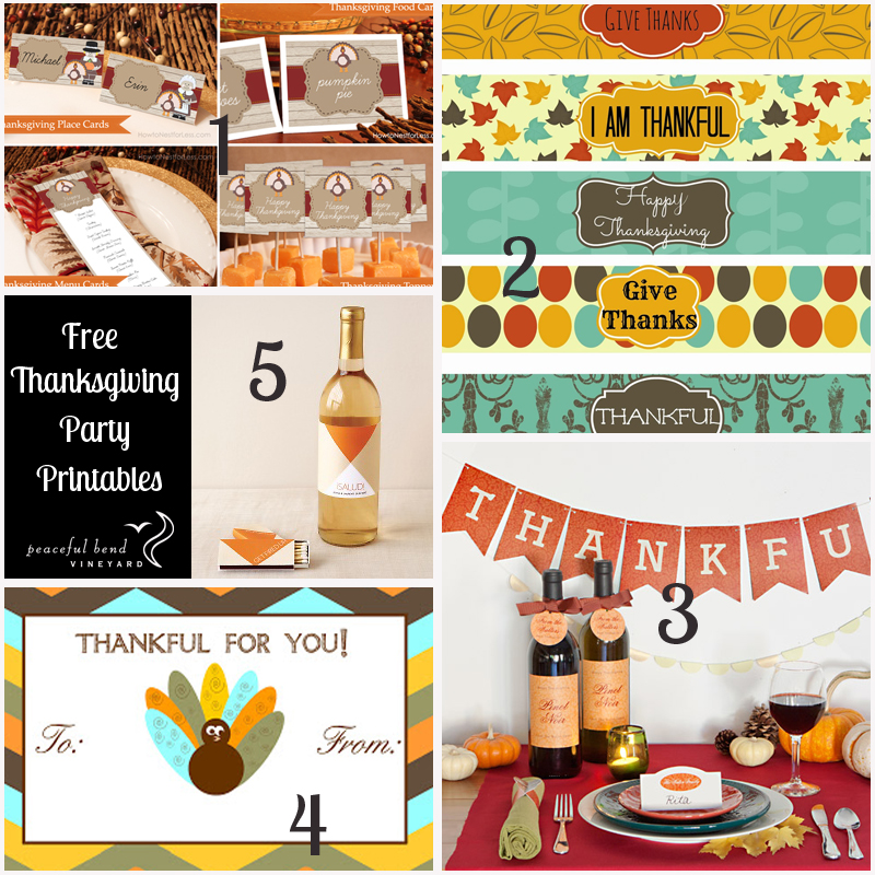 Juneberry Lane Married In Malibu Wine Whimsy A: Thanksgiving Printables