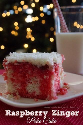 Raspberry Zinger Poke Cake.