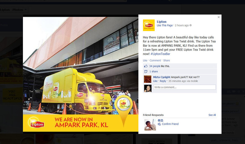 Lipton 1st tea bar on the move1