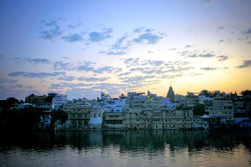 Blue sunset of Udaipur