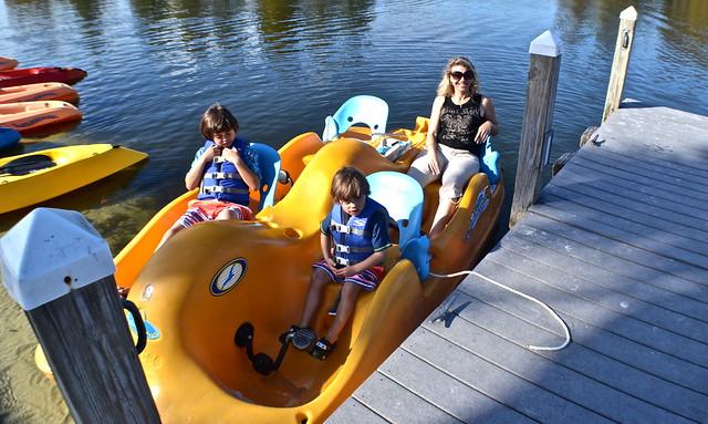 Cypress Gardens Villas and Golf Resort, Orlando Florida - paddle boating