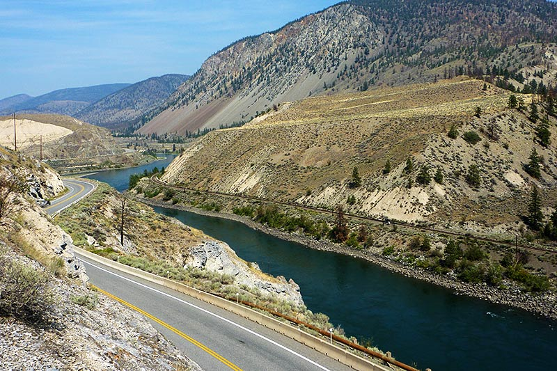 Thompson River between Spences Bridge and Ashcroft, Thompson Okanagan, British Columbia