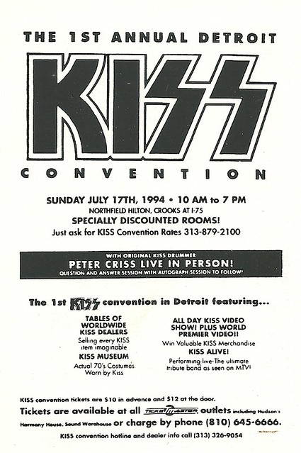 07/17/94 1st Annual Detroit Kiss Convention, Detroit, MI