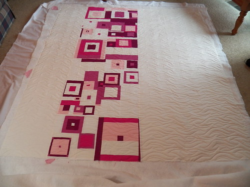 Ebb and Flow panto on Kara's quilt